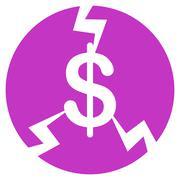 Financial Crash Icon from Commerce Set - stock illustration