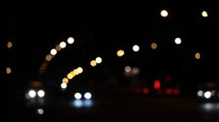 Night City Traffic Bokeh Lights Stock Footage