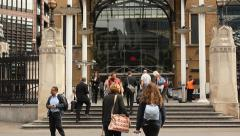 Liverpool street station entrance, London Stock Footage