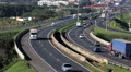 Traffic, Cars, Trucks. Brazilian Highway. Road.  Footage