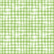 Vector seamless pattern with square hand drawn texture. Green checkered - stock illustration