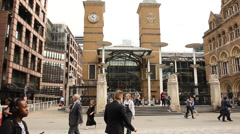Liverpool street train station, London Stock Footage