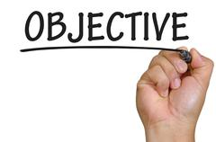 hand writing objective - stock photo