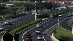 Traffic, Cars, Trucks. Brazilian Highway. Road.  - stock footage