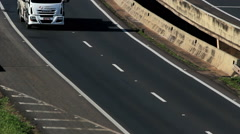 Traffic, Cars, Trucks. Road, highway - stock footage