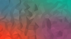 Animated abstract background, colorful triangle pattern Stock Footage