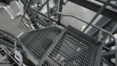 Industrial metal stairs Stock Footage