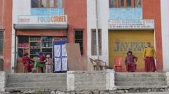 Small restaurant,Kaza,Spiti,India Stock Footage