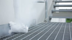 Cold steam from tube Stock Footage