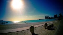 Sandy beach in Qatar Stock Footage
