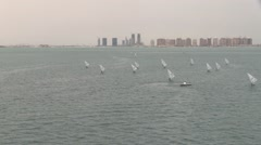 Sailing in Qatar Stock Footage