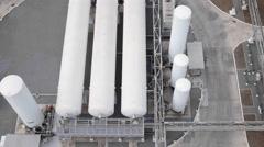 Gas storage tanks Stock Footage