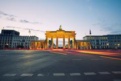 Stock Photo of Brandenburg Gate - sunrise in Berlin, Germany