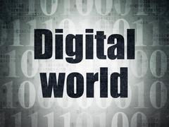 Stock Illustration of Information concept: Digital World on Digital Paper background