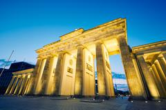 Brandenburg Gate - morning in Berlin, Germany - stock photo
