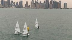 Sailing in Doha, Qatar Stock Footage