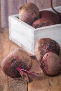Fresh organic red beets Stock Photos