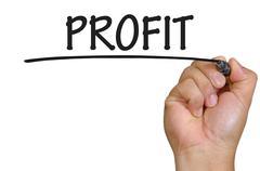 Hand writing profit Stock Photos
