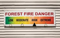 Forest Fire Danger Sign Stock Photos