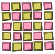 irregular tile pattern frames in green pink over white - stock illustration