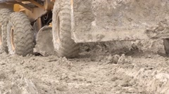 Grader in the mud - stock footage