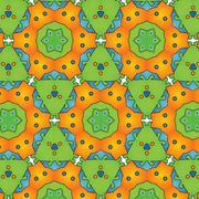 Cute baby real fun designer pattern - stock illustration