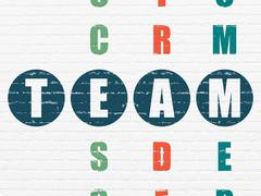 Finance concept: word Team in solving Crossword Puzzle Stock Illustration
