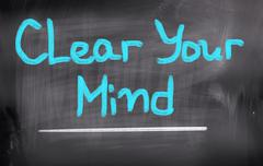 Stock Illustration of Clear Your Mind Concept