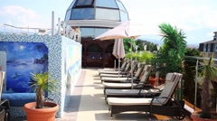 Terrace of Shine house hotel. In Sochi there are about 500 hotels Stock Footage