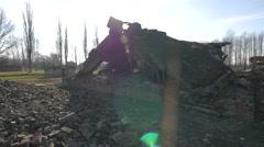 Stock Video Footage of Ruins at Auschwitz-Birkenau