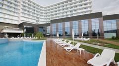 Pool near Hotel Radisson Blu Paradise Resort and Spa Stock Footage