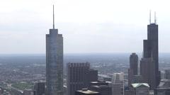 Downtown Chicago, Illinois Skyline - stock footage