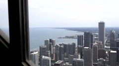 Downtown Chicago, Illinois Skyline From Above - stock footage