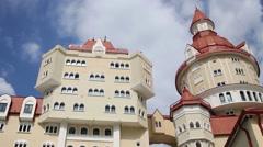 Modern Hotel Bogatyr at summer In Sochi, Russia. Stock Footage