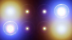 Big spotlight concert stage wall 6 Stock Footage