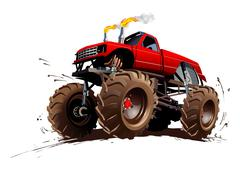 Cartoon Monster Truck Piirros