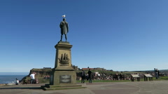 Captain Cook statue Stock Footage
