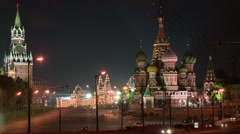 St. Basil's Cathedral and the Red Square Stock Footage