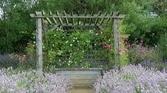 Garden pergola Stock Footage