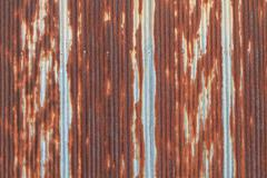 Rusted galvanized iron roof plate Stock Photos