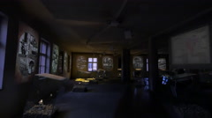 Photo gallery at Auschwitz inside Block 18 Stock Footage