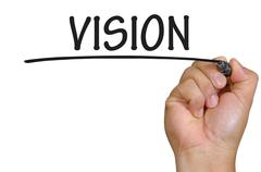 Stock Photo of hand writing vision