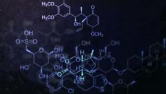 Chemical structures pulstting in the ether 4K Stock Footage