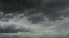 Rain Fall dark cloud 1 Stock Footage