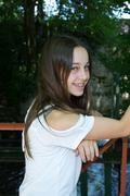 Very lovely young girl of 12 years old - stock photo