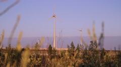 Windmills, Energy Production - stock footage
