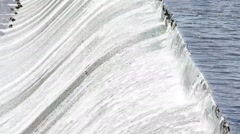 Water Rushing down Dam Close Up Stock Footage