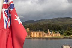 Australian flag Port Arthur - stock photo