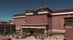 Sakya Monastery, Sakya, Tibet Stock Footage