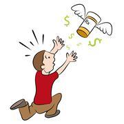 High Cost Prescription Drugs Stock Illustration